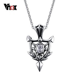 Wholesale Shield Pendants - New Shield Necklaces & Pendants For Men Male Stainless Steel Man Charms Jewelry Free 20inch Chain