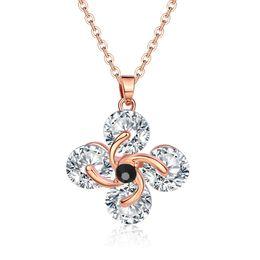 Wholesale Fresh Sweater - New fresh women necklace Temperament crystal flower necklace ladies wild sweater chain