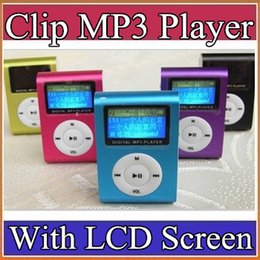 Wholesale Sports Mps Player - USB Cables+Earphones + clip mp3 player with screen Support 1~16Gb TF card,colorful mini mp3 player B-MP