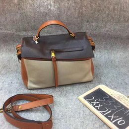 Wholesale Popular Designer Handbags - 2017 Designer Women Boston leather Handbag Popular European Casual Genuine Leather Shoulder Messenger bag Female Locomoti Bolsa