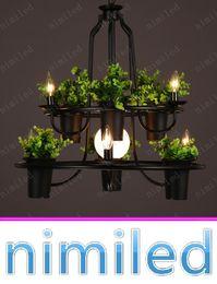 Nimi1021 Persönlichkeits Kunst Lampe LOFT Amerikanische Retro  Eisen Töpfe  Kerzenhalter Kronleuchter Wohnzimmer Schaukasten Balkon Bar Anhänger Lichter