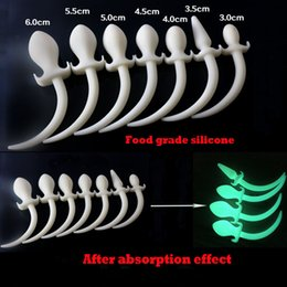 Wholesale Dog Tail Butt Plugs - Handmade Luminous Silicone Dog Slave Tails Anal Plug Butt Plug For Anal Sex Toys Role Play Sex Products For Couple