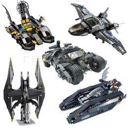 Wholesale Batman Batwing - Batman Set BatTank Tumbler Batmobile Batwing Batboat Building Blocks Bricks Set Toy Figure Lepin