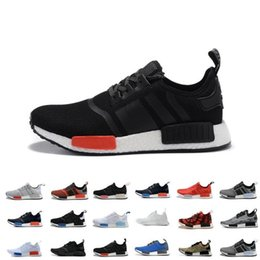 Wholesale Pink Snow Boots For Women - Wholesale Cheap New NMD R1 Runner Primeknit Men'S Running Shoes Fashion Running Sneakers for Men and Women Size US 12 With Box Free