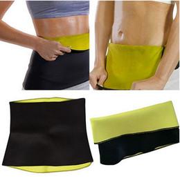 Wholesale Sauna Body Shaper - Super Stretch Gym Women Neoprene Body Shaper Sauna Slimming Abdomen Belly Belt Fit Sweat Waist Trainer Belt Hot Shapers,with retail pacakge