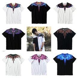 Wholesale Marcelo Burlon T Shirt - High quality Marcelo Burlon T-Shirt RODEO MAGAZINE Milan MB Feather Wings T Shirts Men Women hip hop brand clothing top tees Goros camisetas