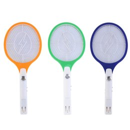 Wholesale Bug Racket - Free Shipping 1pcs Rechargeable LED Electric Insect Bug Fly Mosquito Zapper Swatter Killer Racket 3-layer Net Safe