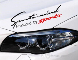 "Wholesale Sticker Eyebrows - 50pcs Black Sports Mind Car Headlight Taillight Eyebrow Decal Sticker Vinyl 14"" X 4.5 Free shipping"