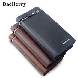 Wholesale Cellphone Clutch - Wallet Men Top Quality Male Clutch Big Capacity Cellphone Bag PU Leather Zipper Pocket Card Holders Man Purse Long