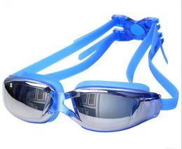 occhiali blu rossi adulti Sconti 50 occhiali impermeabili anti-fog HD occhiali da sole donne protezione UV occhiali da nuoto professionale placca impermeabile occhiali da nuoto