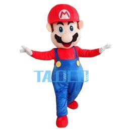 Disfraz de súper mascota online-Nuevo adulto Super Mario Mascot Cartoon traje de la mascota del vestido de lujo del envío libre