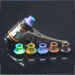 Wholesale Bell Bear - 810 Cone Bell Mouth Epoxy Resin Drip Tips Colorful Wide Bore Drip Tip Mouthpieces SMOK TFV8 TFV12 TFV8 Big Baby Tanks DHL