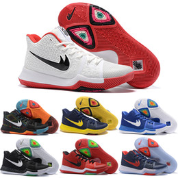 Wholesale White Color Boots - Drop Shipping Wholesale Basketball Shoes Men Kyrie 3 Sneakers Boots Authentic 2017 New Color Discount Sports Shoes Size 40-46