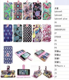 Wholesale Turtle Phone Case - Fashion Flower Fish Wallet Leather Pouch Case For Huawei Honor 7 7I 4X 4A Mate S P8 P9 Dots Turtle Stand Card Soft Phone Skin Cover 50pcs