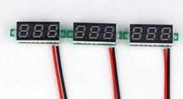 Wholesale Voltmeter Green - 100pcs lot by DHL FEDEX 0.28 Inch red green yellow 2.4V-30V Digital Voltmeter Voltage Tester volt Meter LED display monitor
