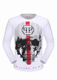 Wholesale Sleeve Diamond Sweater - Winter Long Sleeve Shirts Mens Polo T-shirts Slim Sweater Mosaic Skulls & Diamonds 3D Printed Tee Shirts luxury Sports Male Coats 18111