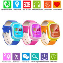 Atacado-Q80 GPS Tracker para crianças Safe Smart Watch Localização Dispositivo SOS Chamada Anti Perdido lembrete Smartwatch para IOS Android PK Q50 Q60 Q90 supplier wholesale gps watches de Fornecedores de relógios gps por atacado