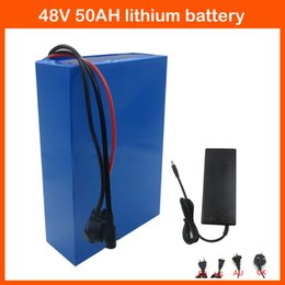 Wholesale Electric Charger Power - High Power 2400W 48V 50AH Electric bike Lithium battery 48V 50AH bicycle battery 26650 Cell 50A BMS + FAST 5A Charger