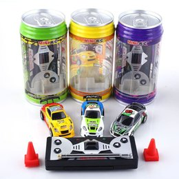 Wholesale Free Rc Car - Creative Coke Can Remote Control Mini Speed RC Micro Racing Car Vehicles Gift For Kids Xmas Gift Radio Contro Vehicles 1:64 DHL free