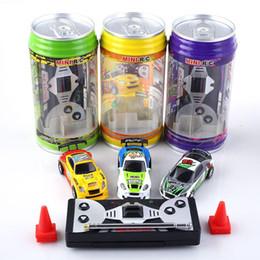 Creative Coke Can Remote Control Mini Speed RC Micro Racing Car Vehículos Regalo para niños Regalo de Navidad Radio Contro Vehículos 1:64 DHL gratis desde fabricantes