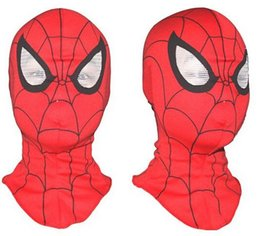 Wholesale Red Spider Man - Free shipping,Cosplay children and adult Spiderman mask  Spider-Man Gloves Cosplay Halloween Party Supplies