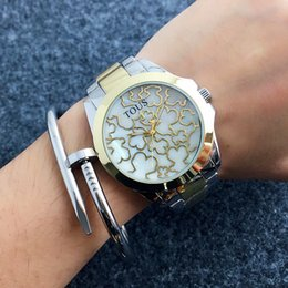 Wholesale New Fashion Girls - Fashion TO Bear style Brand Women's Girls dial Stainless steel band Quartz wrist Watch T29