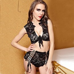 Wholesale Bud Net - 2016 Women New Arrival Black All Coad Lace Skirt+Shorts Sexy Bud silk Net Cloth Clairvoyant Outfit Sleep Wear Hight Quality