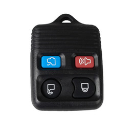 Wholesale Ford Keyless Fob - Guaranteed 100% 4Buttons Replacement Keyless Remote Car Fob Key Shell Key Case For Ford Mercury Lincoln PAD Free Shipping