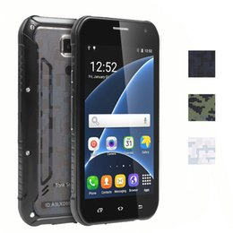 Wholesale Mobile Hot Videos - 5.0 Inch Tank S6 Rugged Waterproof Phone Mtk6580 Quad Core 8GB R0m 512MB Ram Hot sale Mobile Phone 3-proof and Wireless charging With box