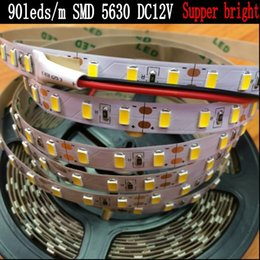 Wholesale 5m Led Strip Waterproof Epistar - (Epistar) Super Bright 90leds m SMD 5630 led strip light Flexible 5M 450 LED tape 5730 cold warm white DC 12V Non waterproof NEW