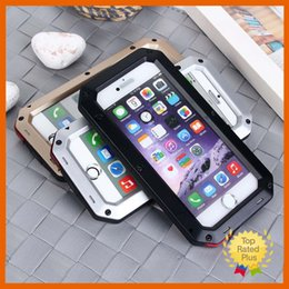 Wholesale Iphone 4s Aluminum Cases - Waterproof Shockproof Aluminum Gorilla Metal Cover Case For iphone 4 4s 5 5s 6 6s Plus Retail package