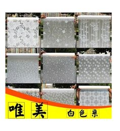 Wholesale Sticker Korean - Adhesive frosted cellophane paper-cut window sticker paper sticker glass heat insulation pervious to light opaque