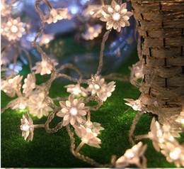 Wholesale Purple Flower String Lights - Fairy 5m lotus flowers Led string garland light Christmas New year Wedding Holiday Party home luminaria decoration lamp