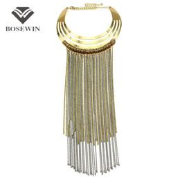 Wholesale Necklace Big Long - Fashion Big Torques Choker Long Chain Tassel Necklace For Women fashion Accessories Maxi Collar Statement Necklaces & Pendants