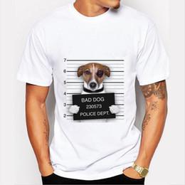 Wholesale Cute Funny Dog Clothes - Bulldog Design Men's Top T Shirts Bad Dog Print Cute T-shirts Casual Plus Size Funny Tees Fashion Men Brand Clothing