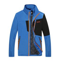 Wholesale Jacket Women Online - Wholesale-Softshell Jacket Men Outdoor Sports Camping Coat Waterproof Jacket Windproof Climbing Jacket Thermal Man Women Online