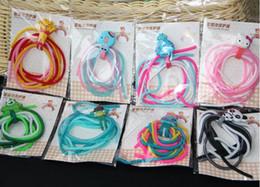 Wholesale Ipad Bracelet - Cartoon Cable Winder Headphone Wire For Samsung iphone 6 6s ipad HTC mp3 Headphone Speaker Phone Data Cable Line Bracelet Necklace DIY
