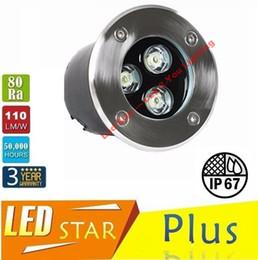 Wholesale 9w Led Underground Lamp - ce rohs ul csa High Power 9W LED Underground Lamp Waterproof IP67 Outdoor LED Buried Lights RGB Warm Cold White AC 110-240V