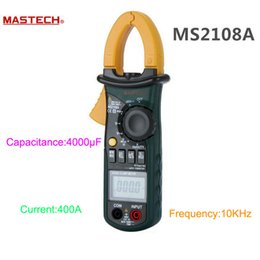 2019 ac clamp meter Wholesale-MASTECH MS2108A Auto Bereich Digital Clamp Meter Multimeter DC AC Strom Spannung Frequenz Meter Tester Hintergrundbeleuchtung günstig ac clamp meter
