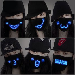 Wholesale Wholesale Flu Masks - Wholesale-Anti-pollution dust mask  protection mask prevent flu mask  Luminous Personality Cartoon Cute Masks Free shipping