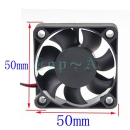 Wholesale Copper Ball Pins - Wholesale- Gdstime 2 pcs lot 5cm 50mm x 50mm CPU Cooling Fan DC 24V 2-Pin PC Computer Case Cooler Fans Black
