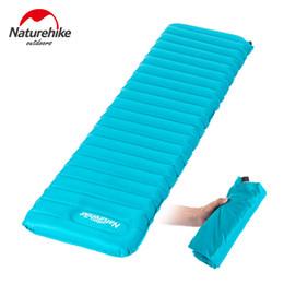 Wholesale Mat Foam Pad - Naturehike Ultralight Manual Inflatable Hand Press Inflating Dampproof Sleeping Pad Outdoor Camping Tent Air Mat Mattress
