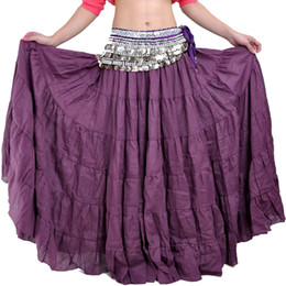 Wholesale White Tribal Belly Dance Skirts - Belly Dancing Long Skirts Bohemia Style Dress 7colors Tribal Dance Skirt Gypsy Dress Skirt For Performance
