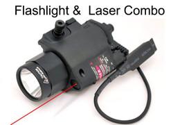 Wholesale Weaver Laser Sight For Pistol - Tactical Red or green Laser & Flashlight Sight Scope Combo Weaver Picatinny Rail Rifle 200 Lumen for Pistol
