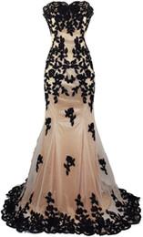 Wholesale Sexy Sweetheart Chiffon Bridesmaid Dress - Appliques Beading Elegant Vestido De Festa Tulle Evening Dresses Mermaid Sweetheart Celebrity Party Dresses Vestido Longo
