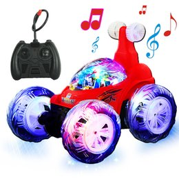 Wholesale Boy Toy S - Tilting stunt rechargeable remote control car rolling off - road remote control car electric children 's toy car boys toys