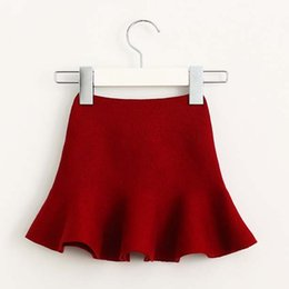 Wholesale Wool Childrens Clothes - Kids Skirt Girls Skirts Child Clothes Kids Clothing New 2016 Childrens Autumn Crochet Skirt Korean Girl Dress Kid Children Skirt Ciao C27744