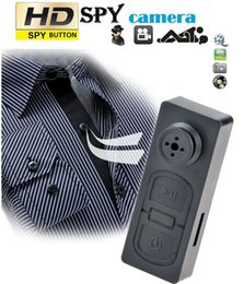Wholesale Covert Button Camera - 16GB Mini Button Pinhole Spy Camera Hidden DVR PC Camcorder 30fps Pinhole Security Camcorder Covert Nanny Cam DVR Mini Candid Camera