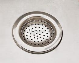 Wholesale kitchen sink drain strainer - Fashion Hot Kitchen Basin Drain Dopant Sink Waste Strainer Basket Leach Plug Stainless Steel