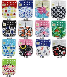 Wholesale Diaper Reusable Washable - Asenappy Bamboo Charcoal Baby Reusable Cloth Pocket Diaper Covers All in One Size Nappy
